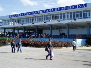 Latin American School of Medicine (ELAM) where dozens of US medical students receive free education every year