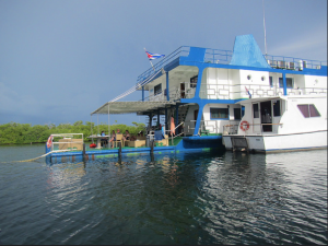 Tortuga Floating Hotel at Jardines de la Reina, photo by Chris Daughters