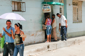A small pizza place in Trinidad, Cuba.