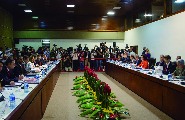 Round of official Cuba-U.S. talks. Havana, Jan. 23, 2015