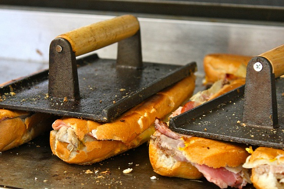 Photo by Tammy Gordon The Cuban sandwich is typically pressed on a plancha or a flat grill top, making each side buttery crisp.