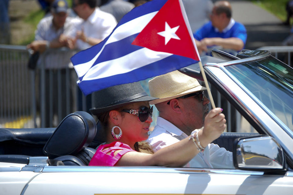 People participate and enjoy the 13th annual Cuban Day Parade of New Jersey on Sunday, June 2, 2013 down Bergenline Avenue in North Hudson. Alyssa Ki/The Jersey Journal