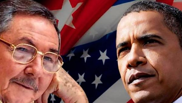 Cuban leader Raul Castro and his counterpart Barack Obama. | Photo: Reuters This content was originally published by teleSUR at the following address: http://www.telesurtv.net/english/news/Cuba-Finally-Removed-from-US-List-of-Sponsors-of-Terrorism-20150408-0021.html. If you intend to use it, please cite the source and provide a link to the original article. www.teleSURtv.net/english