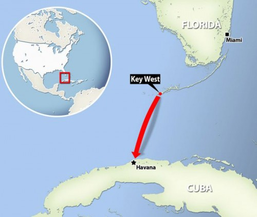 Map Of Florida And Cuba.Restored Relations Could Create Key West Cuba Travel Opportunities