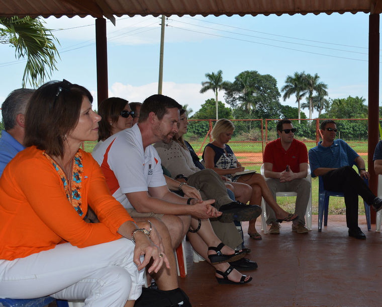 U.S. Rep. Cheri Bustos, D-East Moline, is pictured (left) during the recent Illinois Cuba Working Group�s Agricultural Trade Mission to Havana, Cuba.